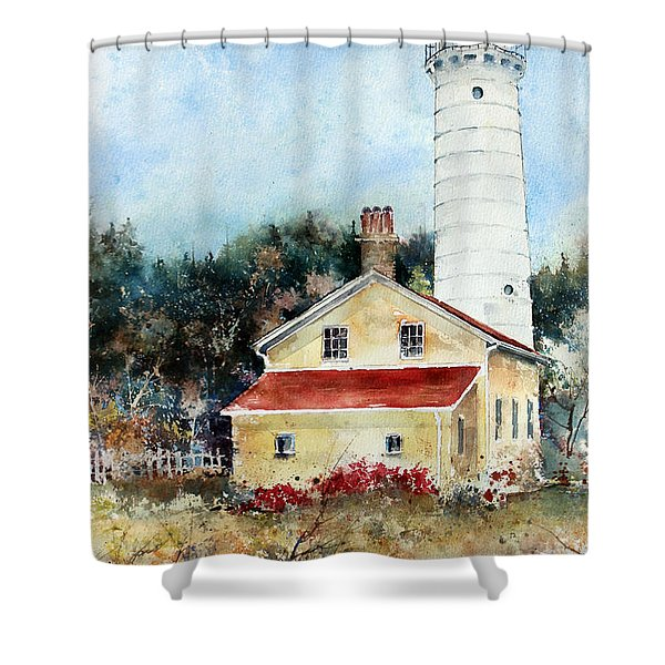 Shore Beacon Shower Curtain
