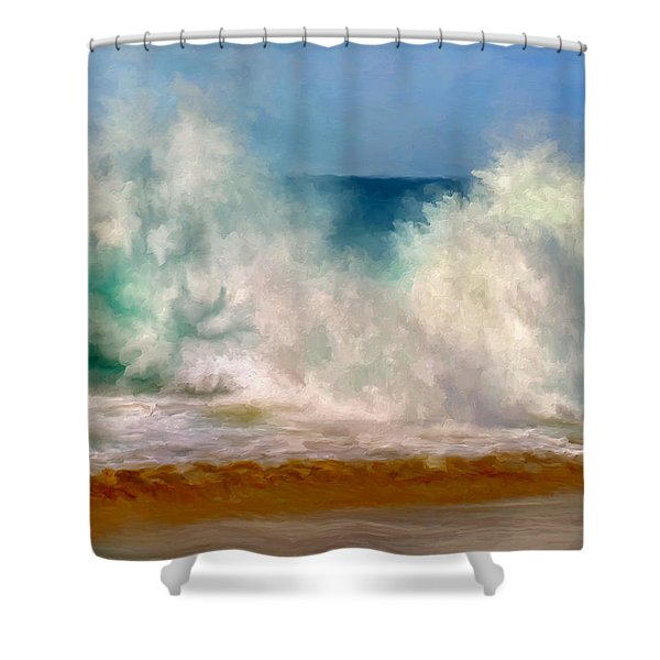 Shorebreak At The Wedge Shower Curtain