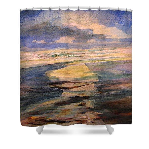 Shoreline Sunrise 11-9-14 Shower Curtain