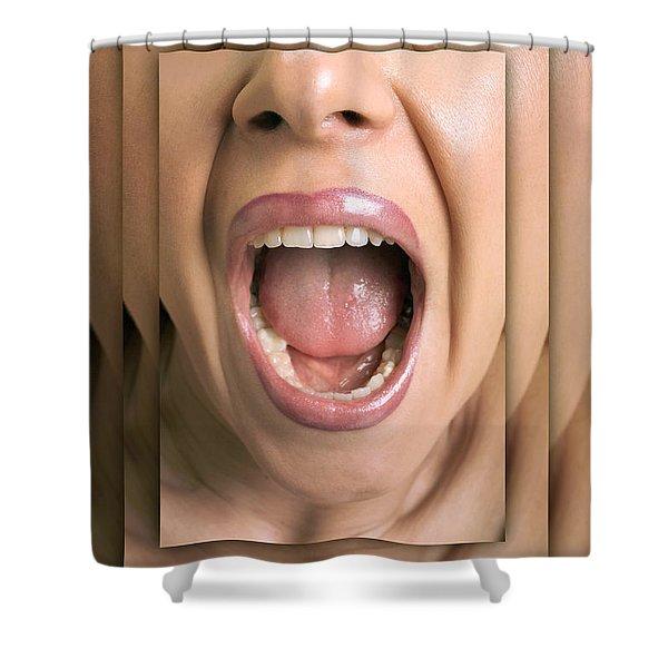 Shouting Woman Shower Curtain