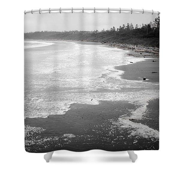 Winter At Wickaninnish Beach Shower Curtain