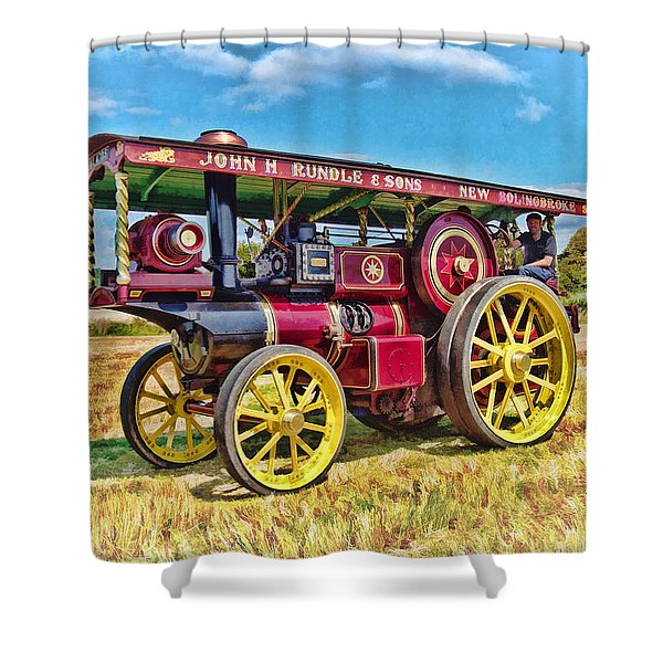 Showmans Engine Shower Curtain