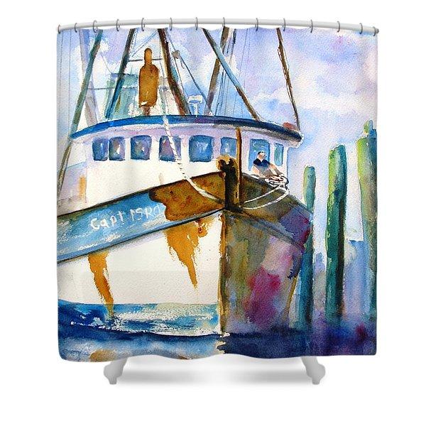 Shrimp Boat Isra Shower Curtain