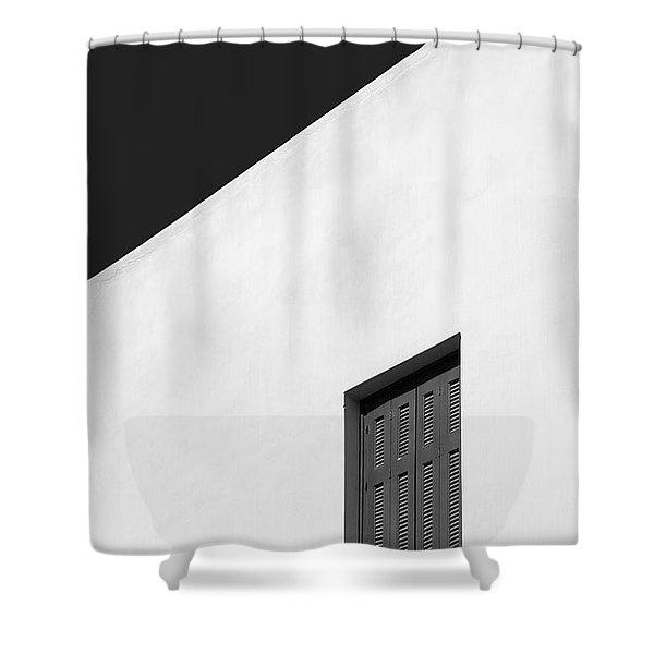 Shuttered Window Shower Curtain