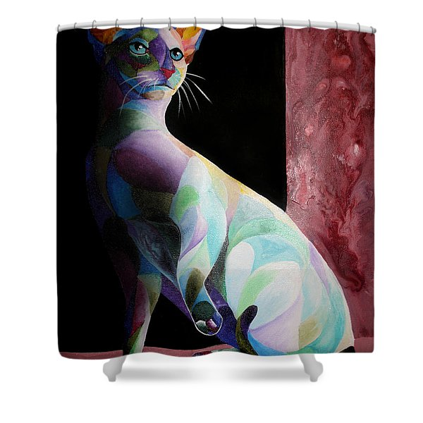 Siamese Shadow Cat 1 Shower Curtain