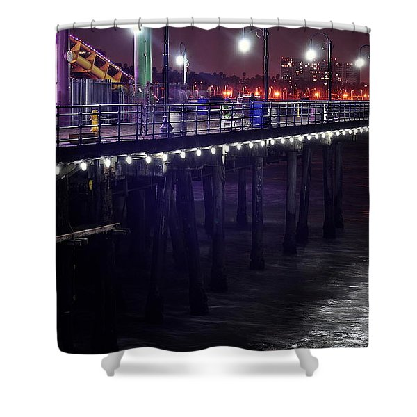 Side Of The Pier - Santa Monica Shower Curtain