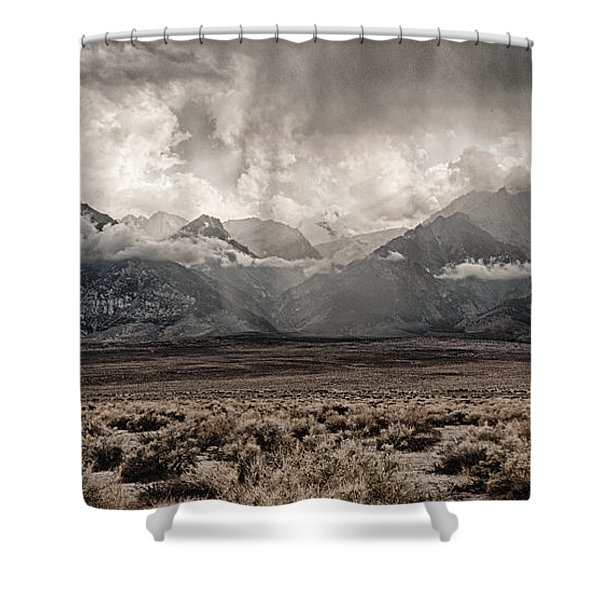 Sierra Thunderstorm Shower Curtain