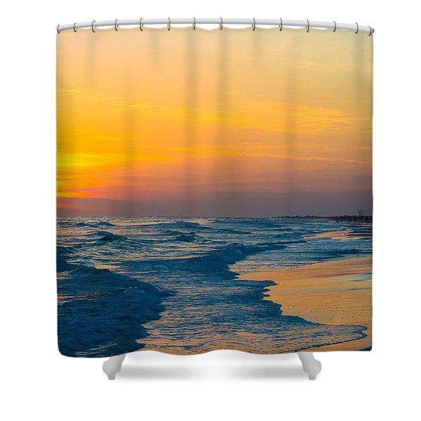 Siesta Key Sunset Walk Shower Curtain