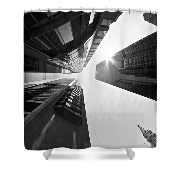 Sign In The Sky Shower Curtain
