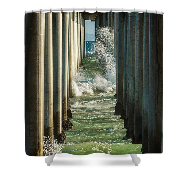 Sign Wave Shower Curtain