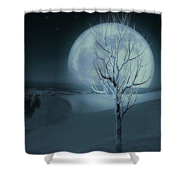 Silent Winter Evening  Shower Curtain