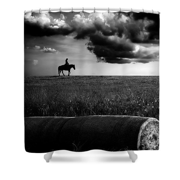 Silhouette Bw Shower Curtain