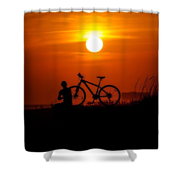 Shower Curtain featuring the photograph Silhouette by Robert L Jackson
