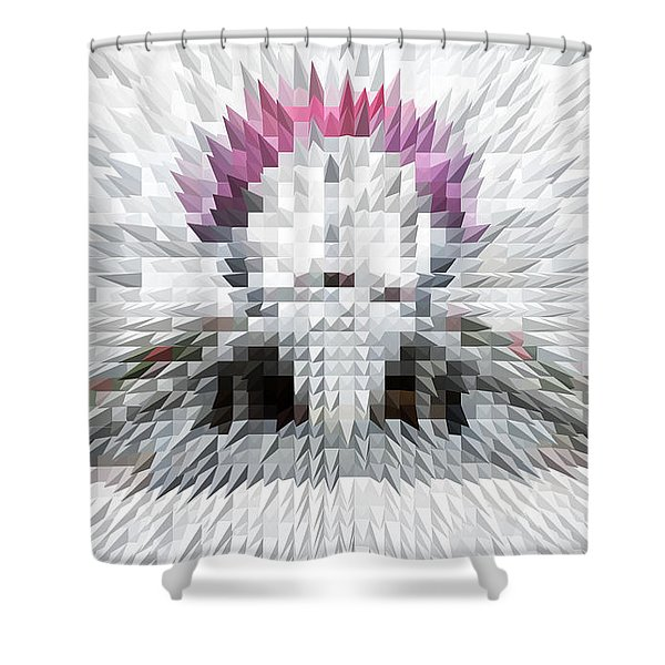 Silver Cotton Candy Shower Curtain