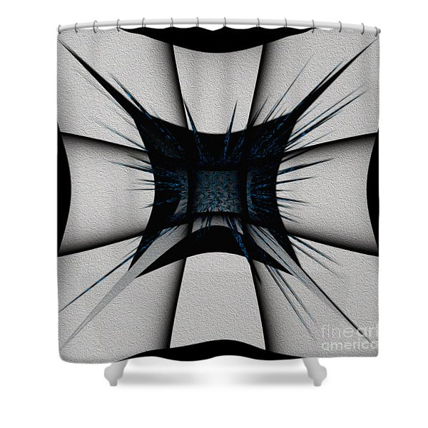Shower Curtain featuring the digital art Silver Craft by Mihaela Stancu