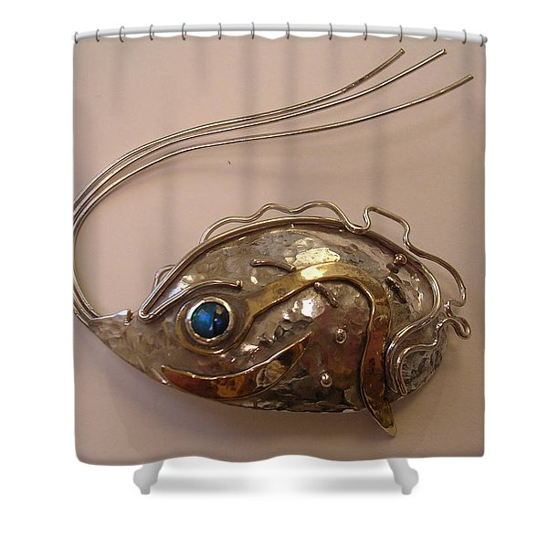Shower Curtain featuring the jewelry Silver Jewlery by Karin Thue