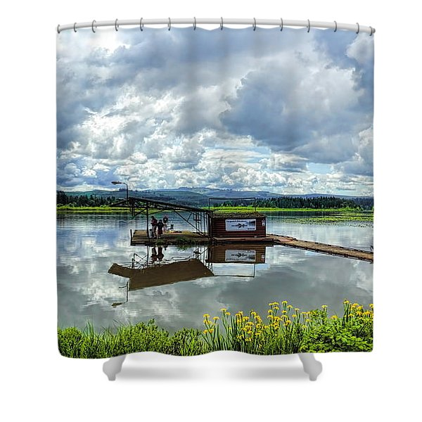 Silver Lake Shower Curtain