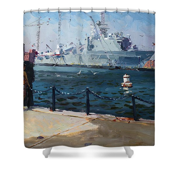 Silver Morning Shower Curtain