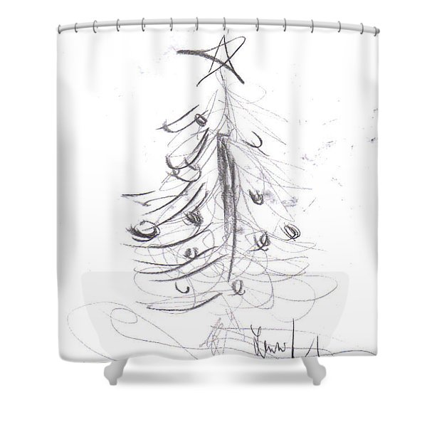 Shower Curtain featuring the drawing Simple Love by Laurie Lundquist
