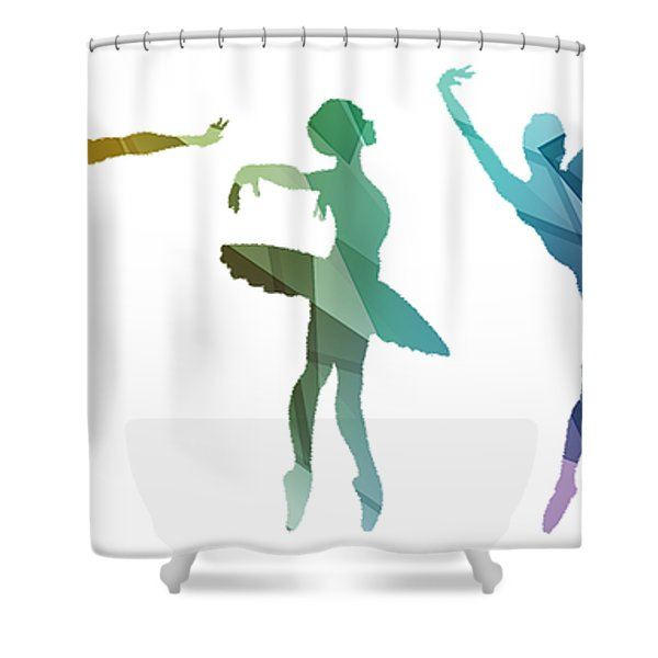Simply Dancing 3 Shower Curtain