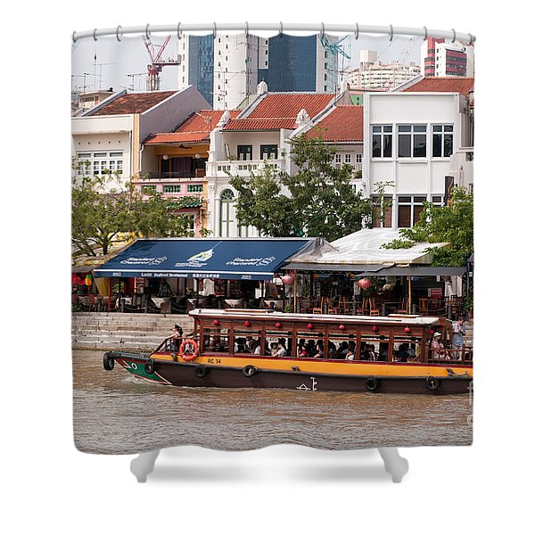 Singapore Boat Quay 04 Shower Curtain