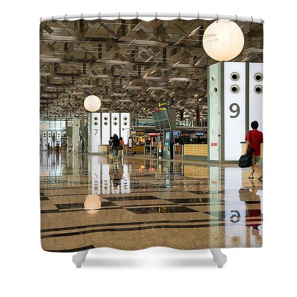 Singapore Changi Airport 03 Shower Curtain