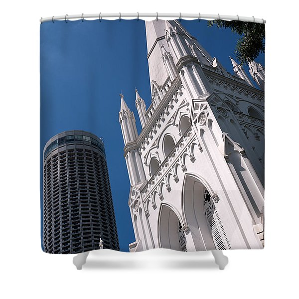 Singapore St Andrews Cathedral 05 Shower Curtain
