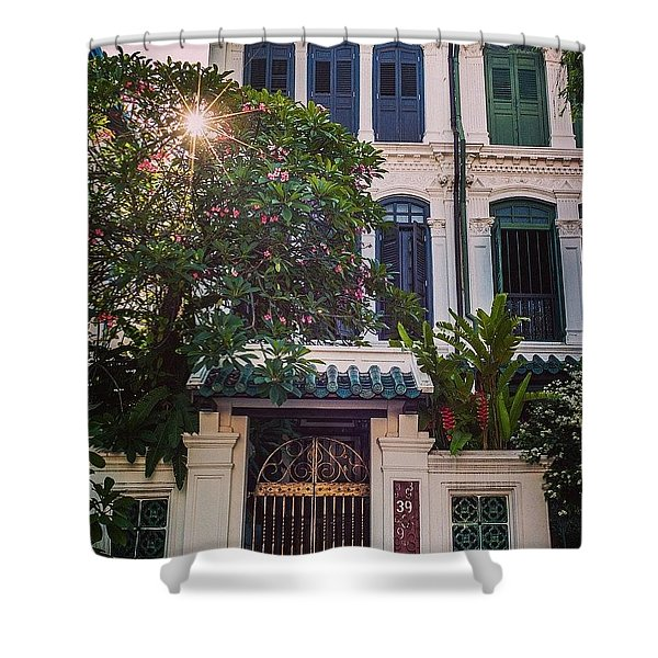 Singapore Traditional Houses Shower Curtain