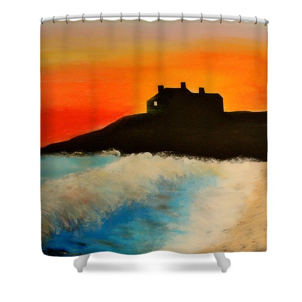 Singing Beach Manchester By The Sea Shower Curtain