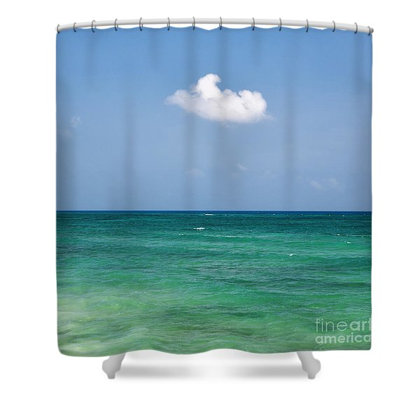 Single Cloud Over The Caribbean Shower Curtain