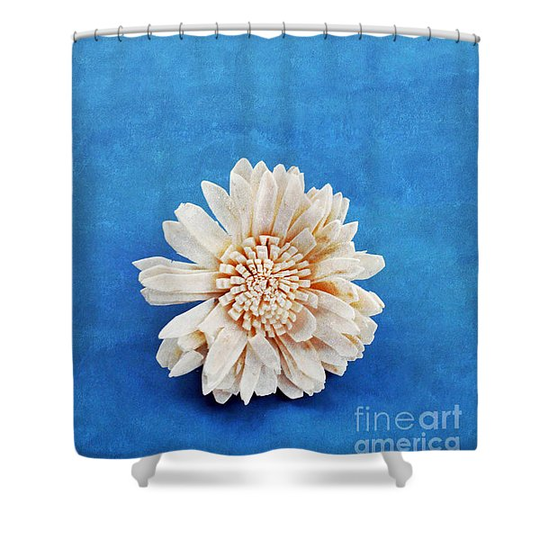 Single Flower Shower Curtain