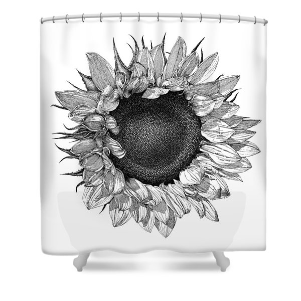 Single Sunflower Shower Curtain