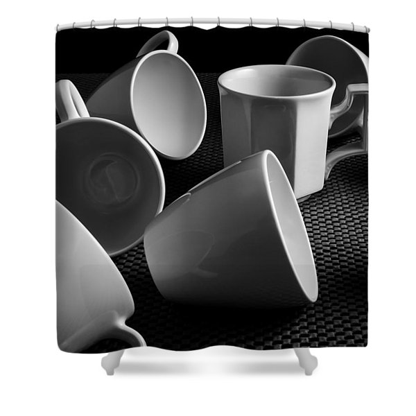 Singled Out - Coffee Cups Shower Curtain