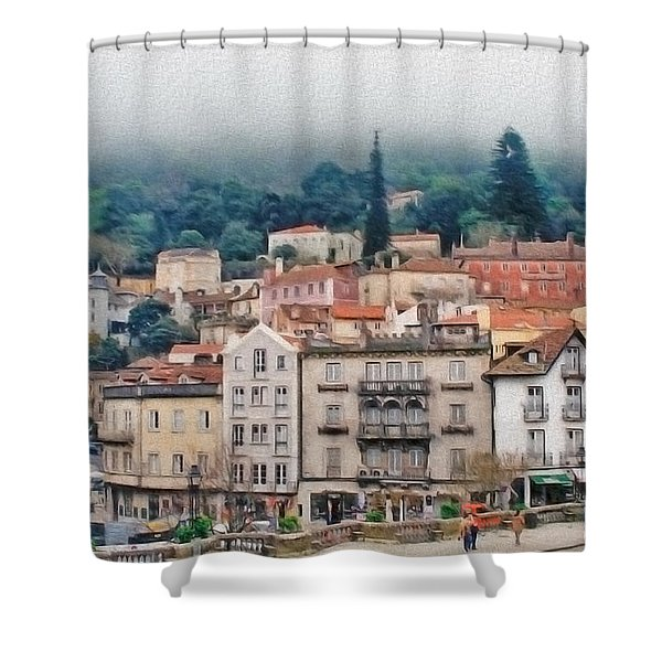 Sintra Townscape Shower Curtain