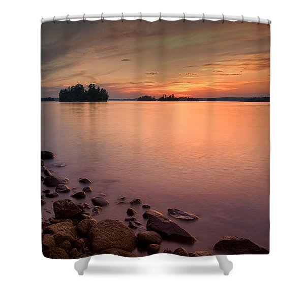 Sioux Narrows Sunset Shower Curtain