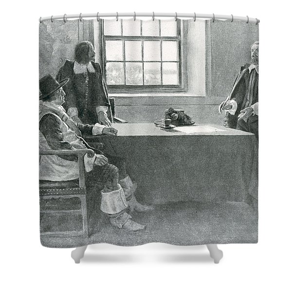 Sir William Berkeley Surrendering To The Commissioners Of The Commonwealth, Illustration From In Shower Curtain