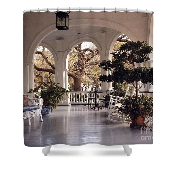 Sit-a-spell Shower Curtain