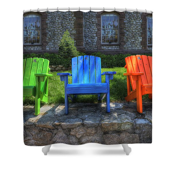 Sit Back Shower Curtain