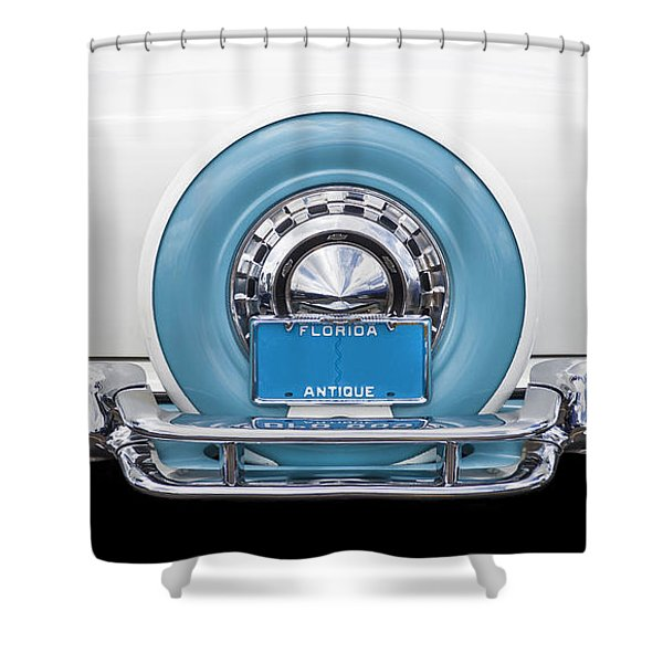 Sittin Pretty 1956 Chevrolet Convertible Shower Curtain