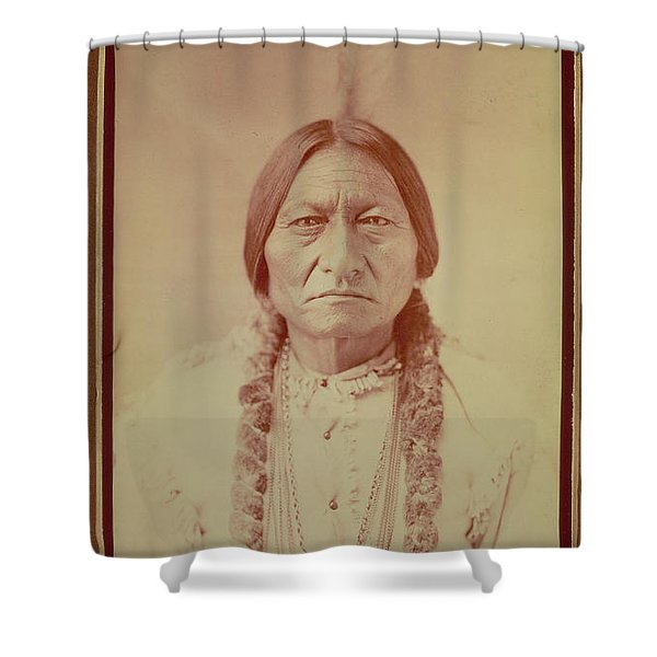 Sitting Bull, Sioux Chief, C.1885 Bw Photo Shower Curtain