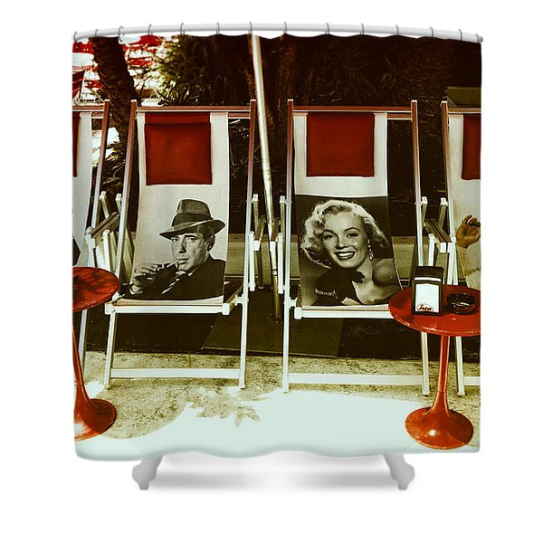Sitting With Movie Stars Shower Curtain