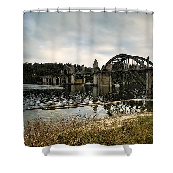 Siuslaw River Bridge Shower Curtain