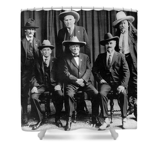 Six Famous Frontiersmen Shower Curtain