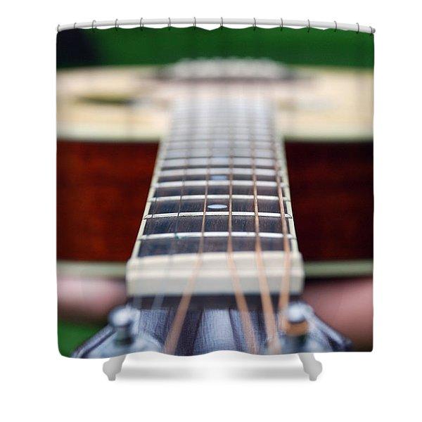 Six String Music Shower Curtain