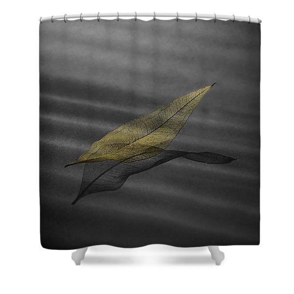 Skeleton Leaf 4524 Shower Curtain