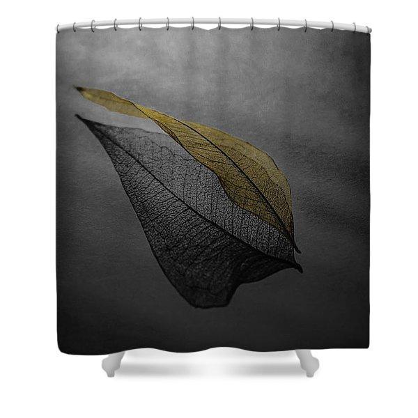 Skeleton Leaf 4716 Shower Curtain