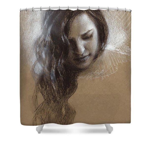 Sketch Of Samantha Shower Curtain