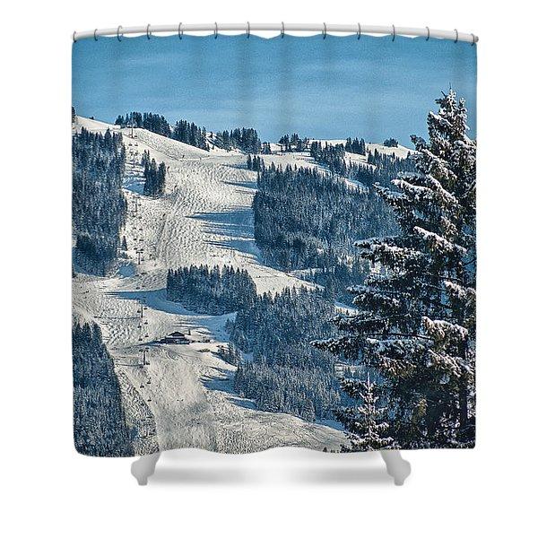 Ski Run Shower Curtain