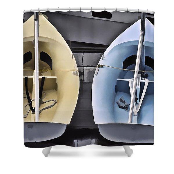 Skiffs Shower Curtain