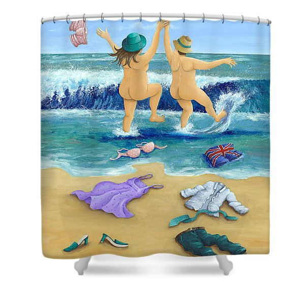 Skinny Dippers Shower Curtain